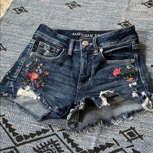 Embroidered American Eagle high waisted shorts